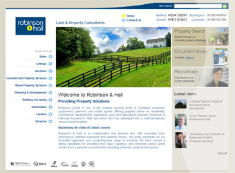 Robinson & Hall Website