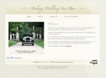 Vintage Wedding Car Hire website screen shot