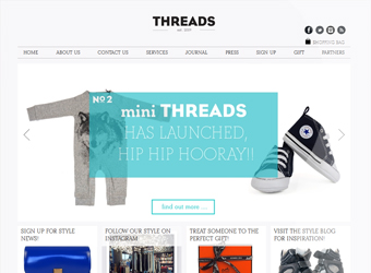 Threads Styling Consultancy website
